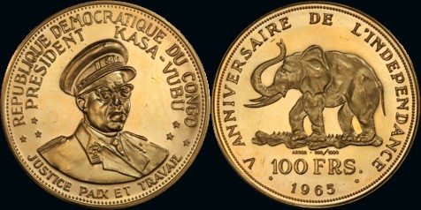 1965 100 Franc Gold Proof - TYPE 1