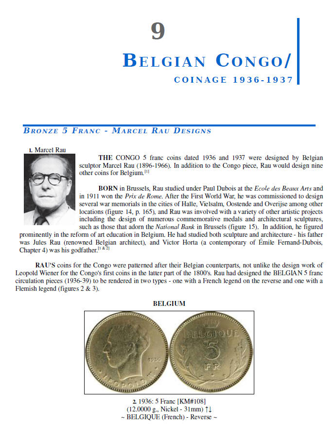 NUMISMATIC HISTORY OF THE CONGO-ZAIRE: 1887-1997, Chapters 9-12, page samples